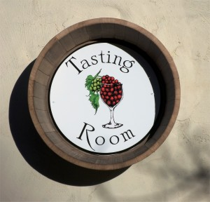 The new tasting room sign