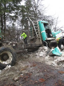 Log Truck Roll Over